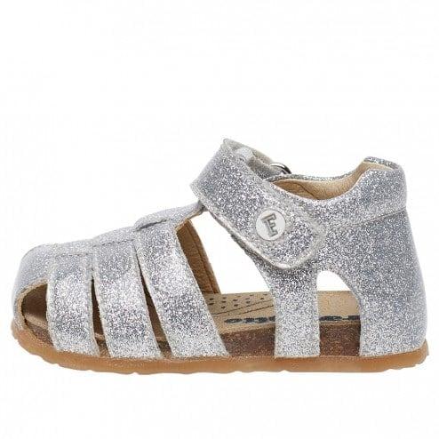FALCOTTO ALBY - Sandalo in vitello glossy - Argento
