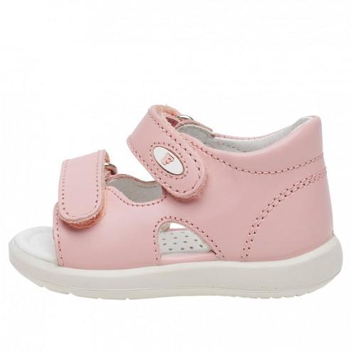FALCOTTO NEW RIVER - Calfskin sandals - Pink