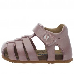FALCOTTO BARTLETT - Closed-toe fisherman leather sandals - Pink
