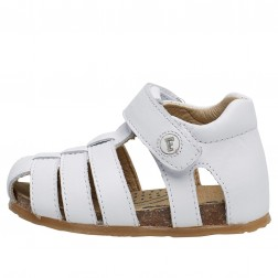 FALCOTTO ALBY - Calfskin sandals - White