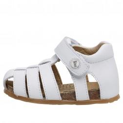 FALCOTTO ALBY - Calfskin sandals - White