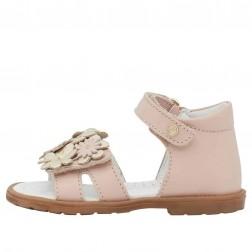 FALCOTTO PELITE - Sandal with flowers appliqué - Pink