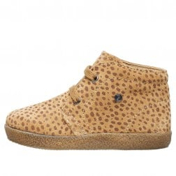 FALCOTTO CONTE - Lace-up suede shoes with a pony print - Sand