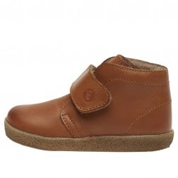 FALCOTTO CONTE VL - First-steps leather shoes - Cognac