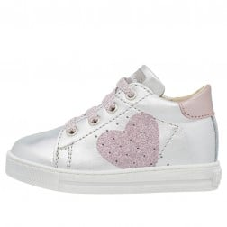 FALCOTTO HEART - Leather sneakers - Silver