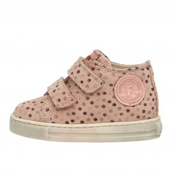 FALCOTTO MICHAEL - Suede sneakers with polka-dot print - Antique pink