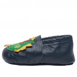 FALCOTTO TROLLI - Crib shoes with dragon - Navy blue