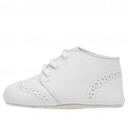 FALCOTTO WHOOPIE - Crib shoes with laces - White