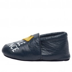 FALCOTTO TATER - Crib shoes with crown - Blue navy