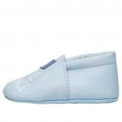 FALCOTTO TATER - Crib shoe with crown patch and print - Light Blue