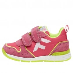 FALCOTTO HACK VL. - Sporty sneakers in a technical fabric - Fuchsia-Fluo yellow