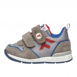 FALCOTTO HACK VL. - Sporty technical fabric and suede sneakers - Grey