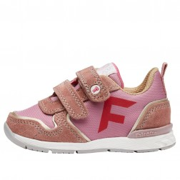FALCOTTO HACK VL. - Sporty technical fabric and suede sneakers - Pink