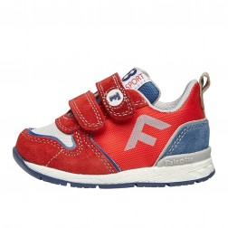 FALCOTTO HACK VL. - Sporty technical fabric and suede sneakers - Red