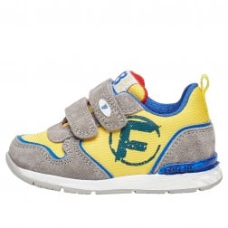 FALCOTTO HAKER VL. - Sneaker in cordura and suede with print - Yellow