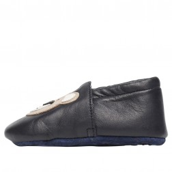 FALCOTTO BITTY - Cradle shoe with teddy bear patch - Navy