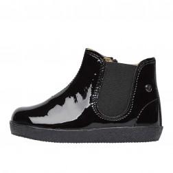 FALCOTTO CALVIN - Patented beatle boot - Black
