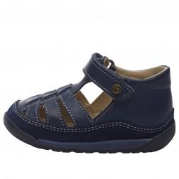 FALCOTTO LAGUNA VL - Sandale semi-ouverte en cuir - Bleu