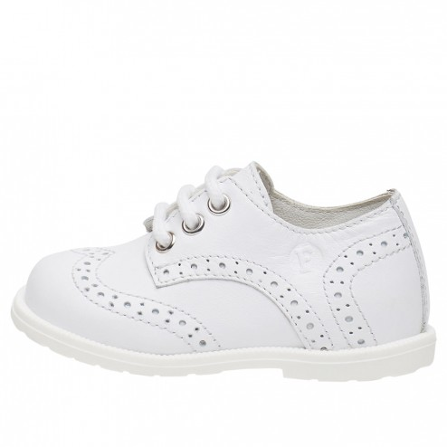 FALCOTTO TICKLE - Derby style laced shoes - White