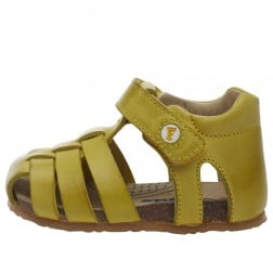 FALCOTTO BARTLETT - Closed-toe fisherman leather sandals - Yellow