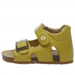 FALCOTTO BEA - Leather sandals - Yellow