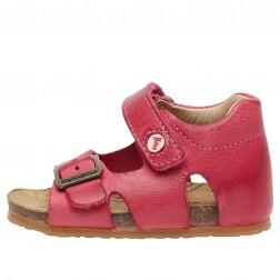 FALCOTTO BEA - Leather sandals - Fuchsia