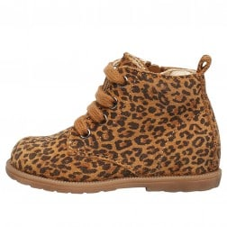 FALCOTTO ROBIN NEW - Ankle boot in suede with leopard print - Leopard