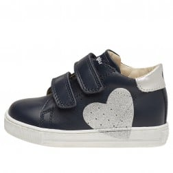 FALCOTTO HEART VL - Leather sneakers - Blue/Silver