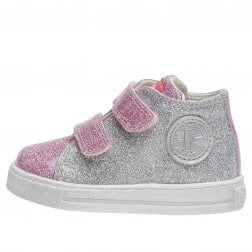 FALCOTTO MICHAEL - Glossy sneakers - Pink-Silver-Green