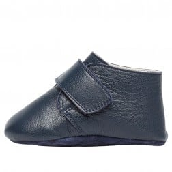 FALCOTTO BOOGIE - Crib shoe with Velcro - Blue