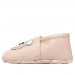FALCOTTO BITTY - Crib shoe with teddy bear patch - Powder Pink