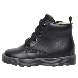 FALCOTTO ARAWN - Lace up calfskin ankle boot - Black