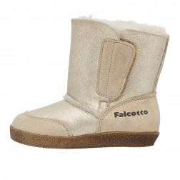 FALCOTTO CARL - Suede boots - Platinum