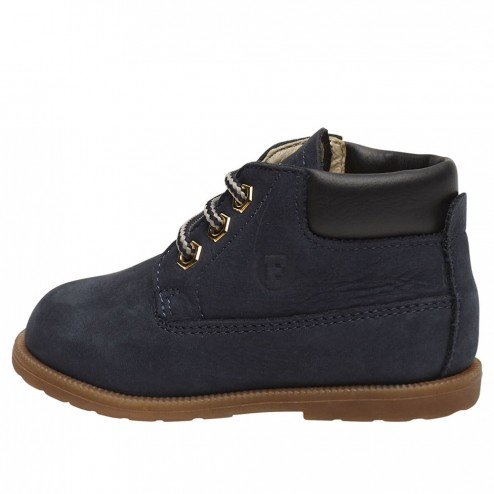 FALCOTTO STAMBECCO - Leather ankle boots - Blue
