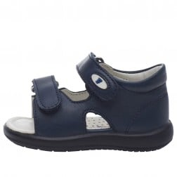 FALCOTTO NEW RIVER - Leather sandals - Navy