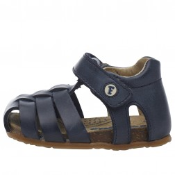 FALCOTTO ALBY - Closed toe fisherman leather sandals - Blue