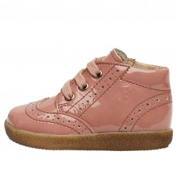 FALCOTTO CUPIDO - Patent leather lace-up - Pink
