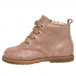 FALCOTTO ROBIN NEW - Ankle boot in suede with glitter polka dots - Pink