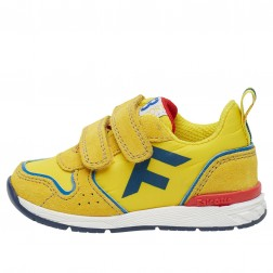 FALCOTTO HACK VL. - Sporty sneakers in a technical fabric - Yellow