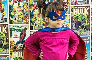 Claudia und ihr Karneval als...Superheldin!
