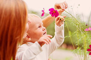 Jouons ensemble avec des fleurs et des plantes