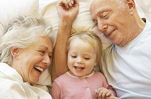 La première nuit chez les grands-parents